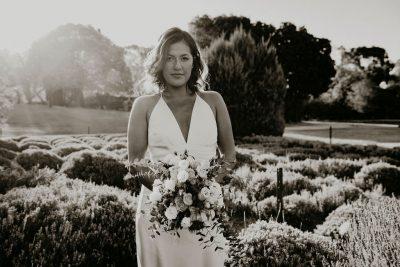 Sabrina Paul Daylesford Elopement Lavandula Swiss Italian Farm Victoria Australia Lets Elope Melbourne Sarah Matler Photography Wedding Photographer romantic autumn afternoon ceremony